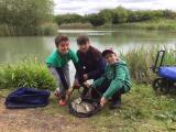 Ryan Kiernan and two young anglers at Lodden